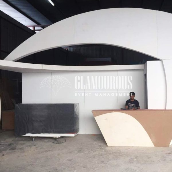 Exhibition Booth Stand Design and Build Pavilion Work Process Fabrication in Factory